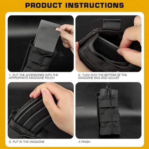 wbd rigged magazine pouch insert grey 2