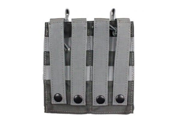 oper8 tactical double bungee m4 magazine pouch - grey back