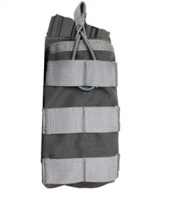 oper8 single bungee m4 magazine pouch - grey front