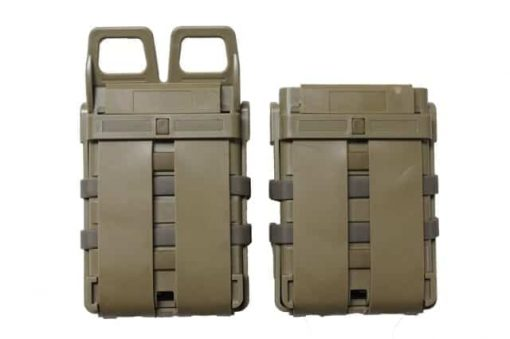 oper8 tactical fast mag 5.56 pouch set - coyote rear