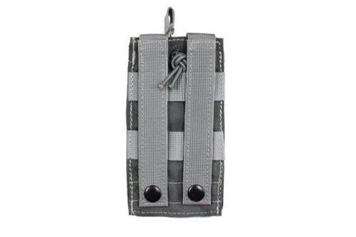 oper8 single bungee m4 magazine pouch - grey rear