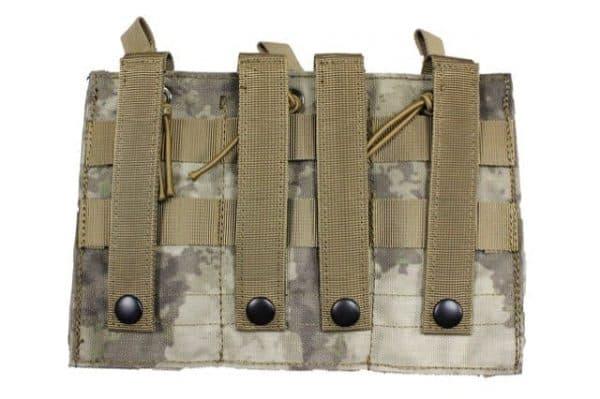 oper8 tactical triple bungee m4 magazine pouch - atac au rear