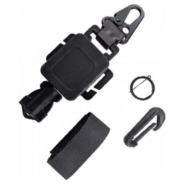 wbd retractable buckle lanyard - black