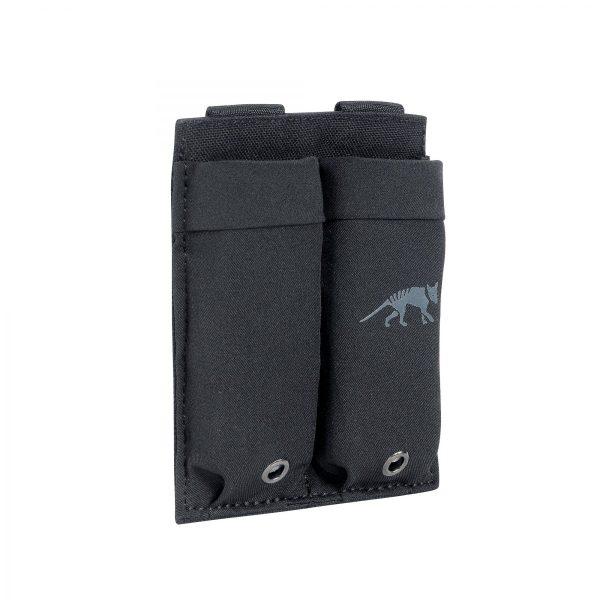 tasmanian tiger double low profile pistol magazine pouch - black