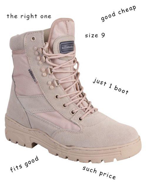 a single desert patrol boot kombat uk size 9