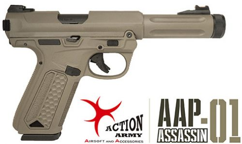 action army aap-01 gas blowback pistol - tan
