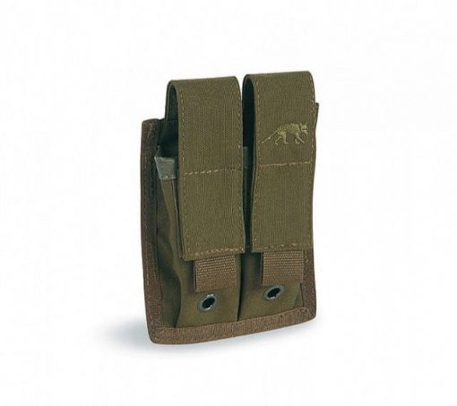 tasmanian tiger double pistol magazine pouch - olive