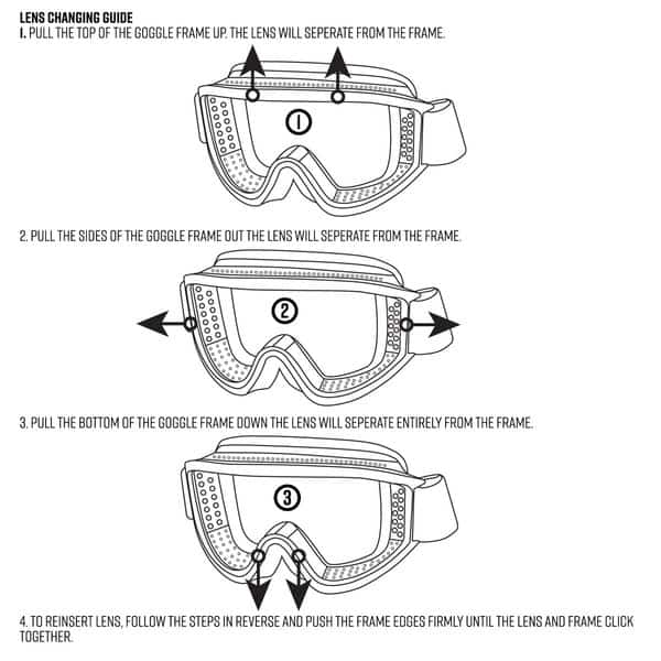 valken tango thermal airsoft goggles diagram