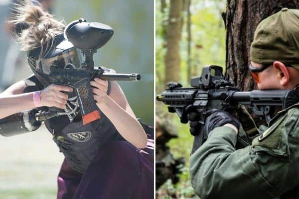 Airsoft v paintball