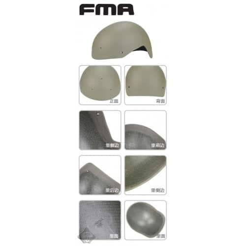 fma fast helmet carbon fibre version dark earth 12