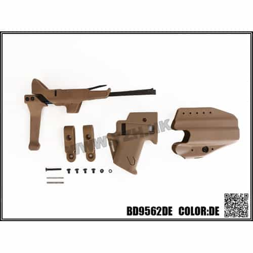 emerson gear flx g17 stock and holster set dark earth