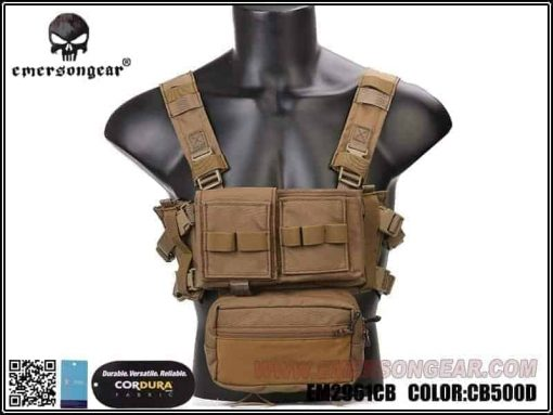 emerson gear micro fight chest rig coyote brown