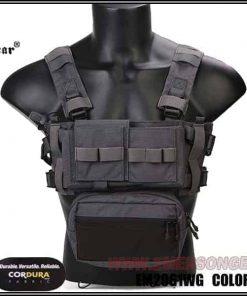 emerson gear micro fight chest rig wolf grey