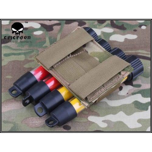 emerson gear molle mk5 holder shotgun shell holder coyote brown back