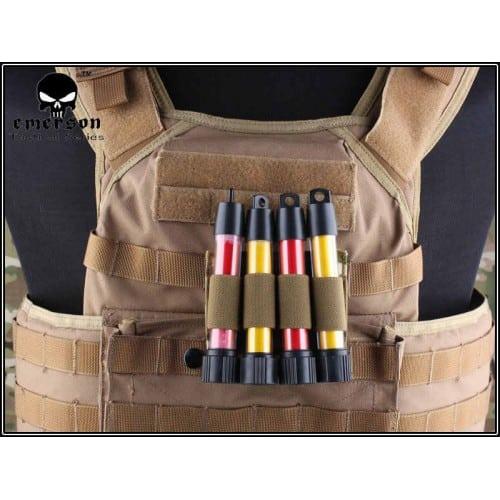 emerson gear molle mk5 holder shotgun shell holder coyote brown main