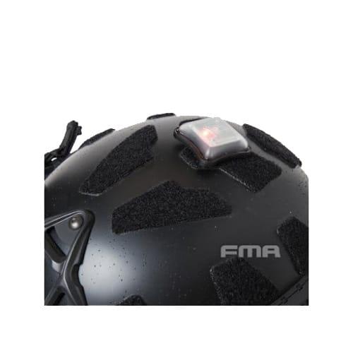 fma helmet signal light red flashing light black top