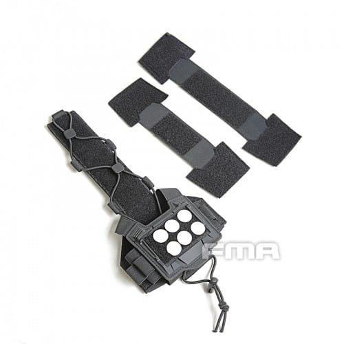 fma universal helmet bridge cover for tactical helmet black 2