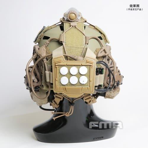 fma universal helmet bridge cover for tactical helmet dark earth back