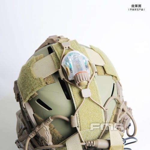 fma universal helmet bridge cover for tactical helmet dark earth 3