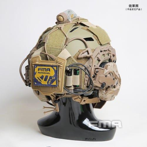 fma universal helmet bridge cover for tactical helmet dark earth 5