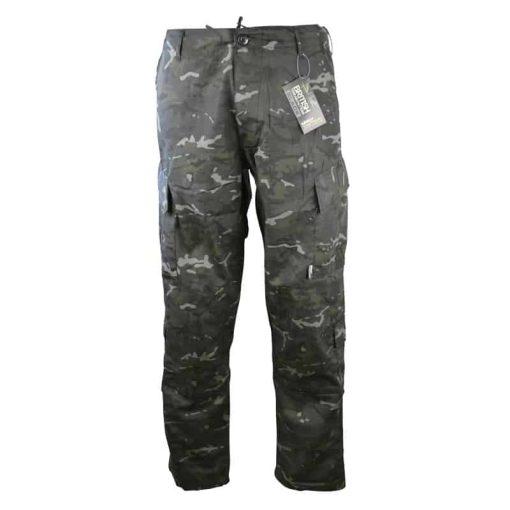 kombat uk acu assault trousers btp black front