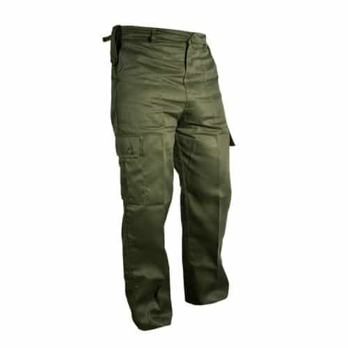 kombat uk olive green combat trousers main