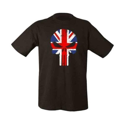 kombat uk flag punisher t-shirt