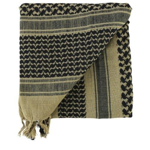 kombat uk shemagh headscarf sand and black 2