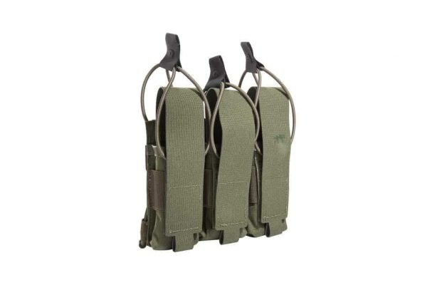 tasmanian tiger triple mp7 magazine pouch - olive