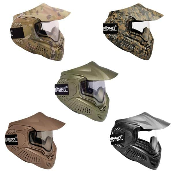 valken mi-7 mask dual-pane themal lens airsoft face mask all