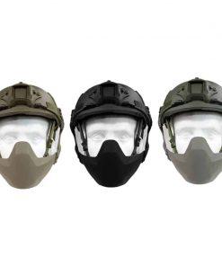 fma folding half seal face helmet mask. helmet-mounted mask all