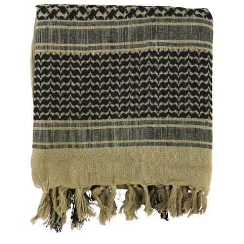kombat uk shemagh headscarf sand and black