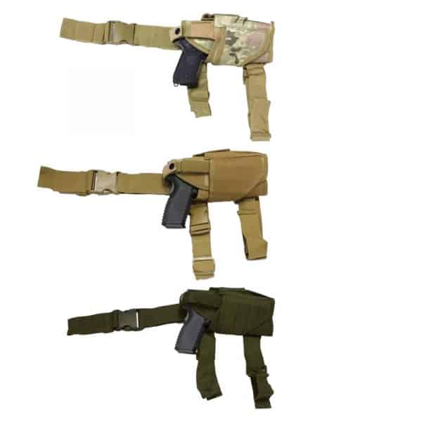 wbd adjustable right handed drop leg holster all