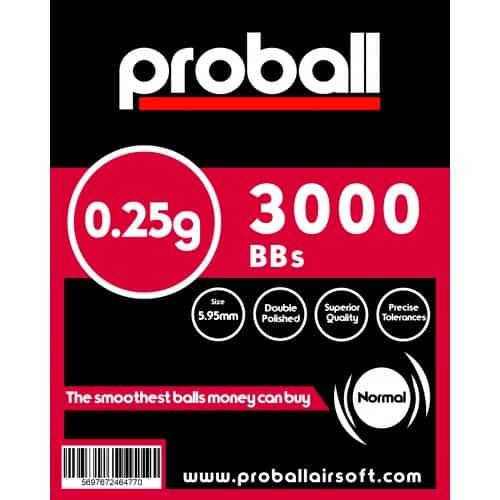 proball 0.25g airsoft bbs 3000