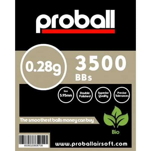 proball 0.28g biodegradable airsoft bbs 3500
