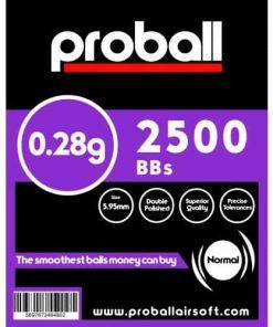 proball 0.28g airsoft bbs 2500