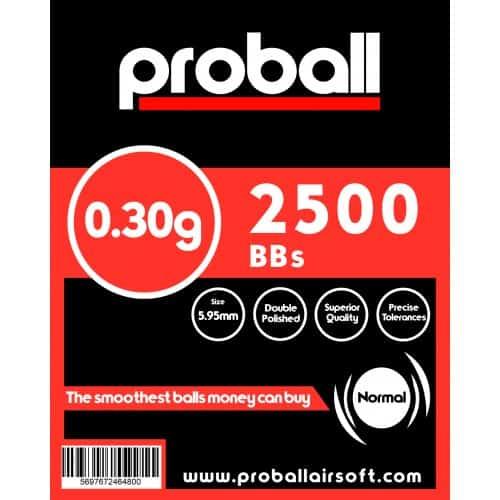 proball 0.30g airsoft bbs 2500
