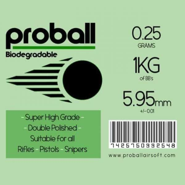 Proball 0.25g biodegradable airsoft bbs