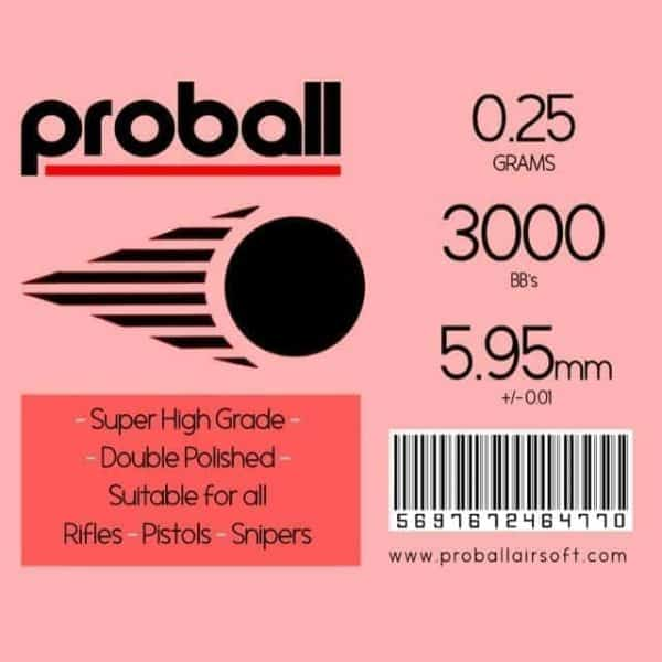 proball 0.25g airsoft bbs 3000