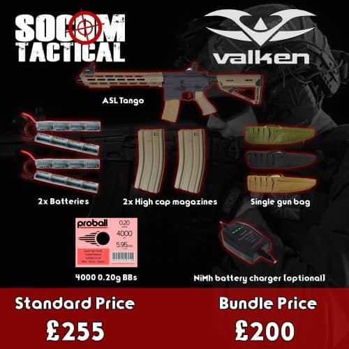 valken asl tango airsoft aeg bundle - airsoft starter bundle