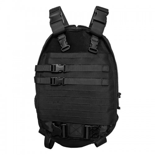 wbd dual-purpos tactical backpack and vest black