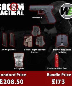 we g17 gen 5 airsoft gas pistol bundle