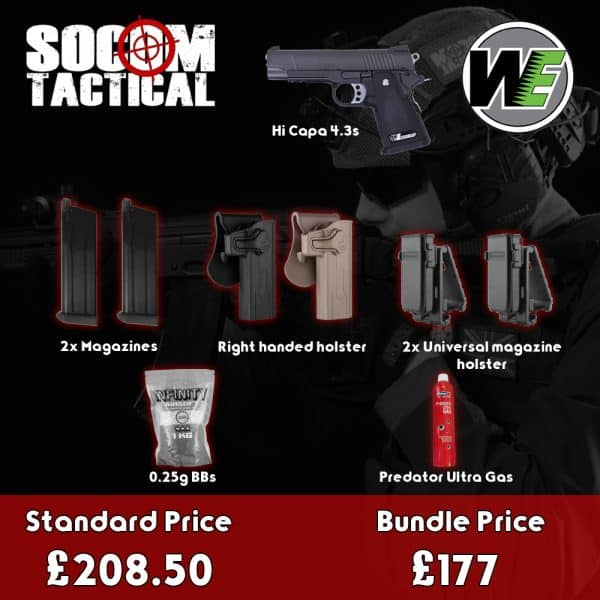 we hi capa 4.3s airsoft gas pistol bundle