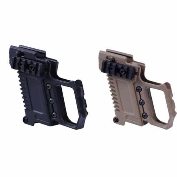 tactical airsoft glock pistol front carbine kit both