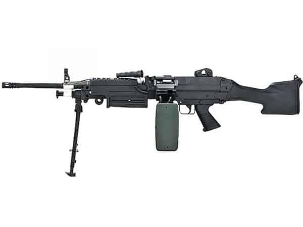 A&K M249 MK2 with Sound Control Drum Magazine (Polymer Body) airsoft support gun
