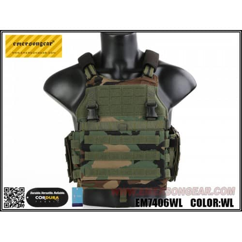 emerson gear vs style scarab plate carrier woodland 1