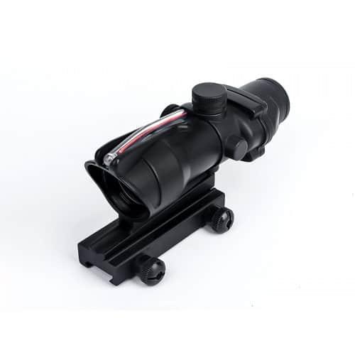 aim-o acog style 1x32 fibre illuminated red dot sight 1