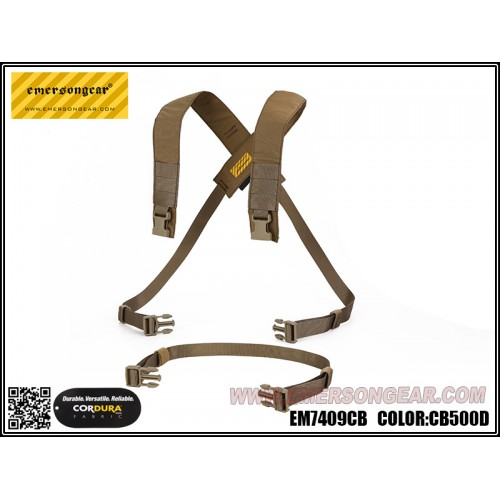 emerson gear d3crm chest rig x-harness kit coyote brown