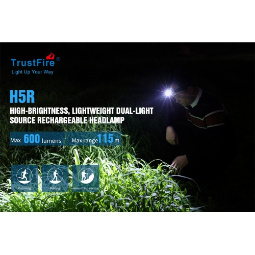 trustfire h5r headlamp 600 lumens 5