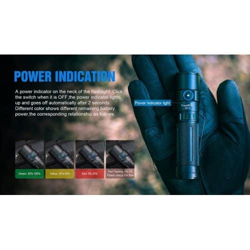 trustfire mc3 edc magnetic rechargeable flashlight 7